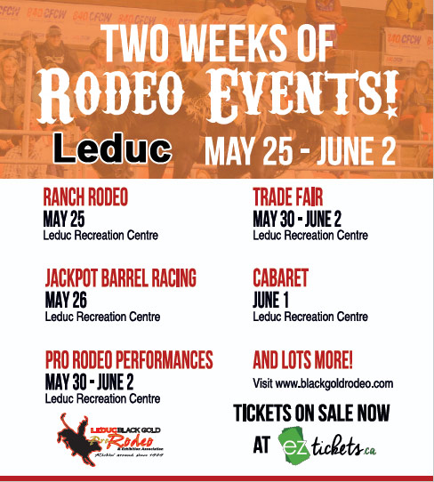 Leduc Black Gold Rodeo Event Schedule - Tickets are on sale